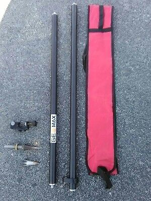 geomax carbon fiber 2meter GPS pole with extras