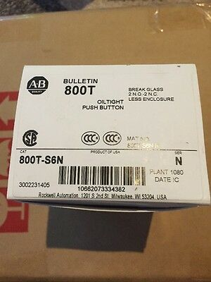 ALLEN BRADLEY 800T-S6N New In Factory Box