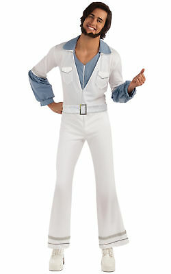 Benny 1970s Pop Star Hippie Retro Groovy Men Costume STD