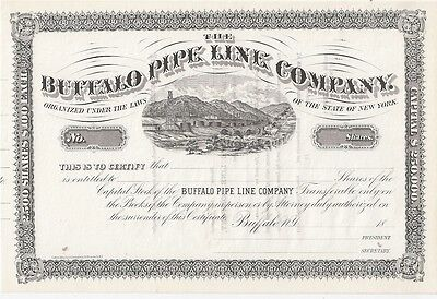 The Buffalo Pipe Line Company......1800's Unissued Stock Certificate