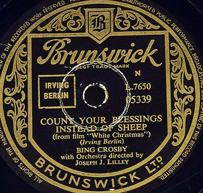 Schellackplatte - Bing Crosby - Count Your Blessings Instead Of Sheep / What...