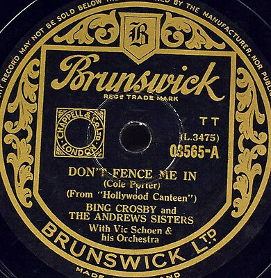 Schellackplatte - Bing Crosby - Don't Fence Me In / The Three Caballeros
