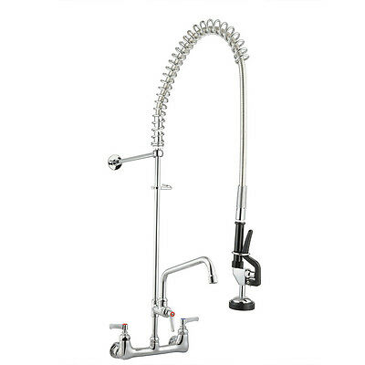 """New Commercial Kitchen Restaurant Pre-Rinse Faucet Swivel with 12"""" Add-On Faucet"""