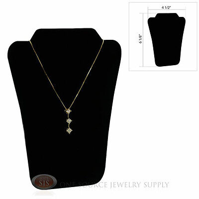 "5 1/2"" Black Velvet Padded Pendant Jewelry Necklace Display Easel Presentation"