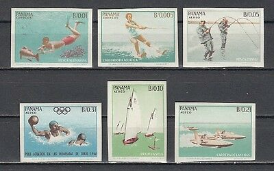 / Panama, Scott cat. 454-454 E. Water Sports, IMPERF issue. Scuba Diving.