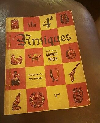 Vtg Paperback 1956 Warman's Antiques & Current Prices 4th  50s price guide