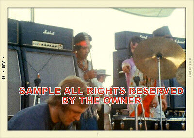 Jimi Hendrix  Photo Set Of 2 Photos Woodstock 1969 A  Unique Set + Quality Gift