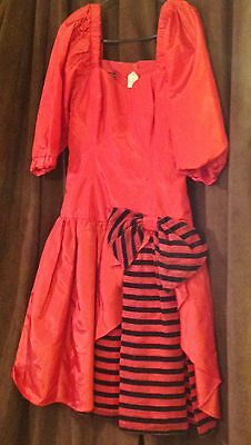 Ladies Short Red Party Dress Western or other Re-enactment