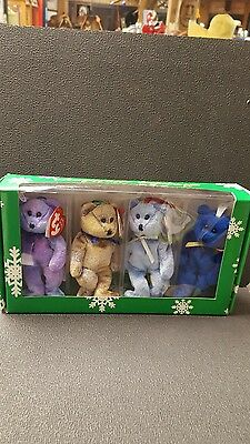 Ty Beanie Babies The Jingle Beanies Collection Set of 4