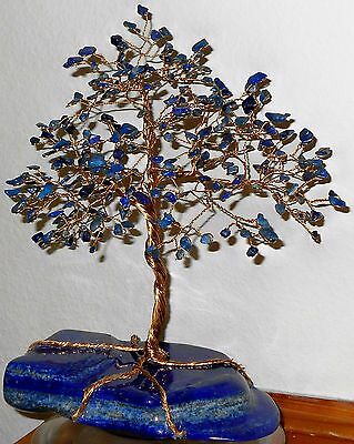 11 inch--Incredible LAPIS LAZULI Gem tree on a polished LAPIS LAZULI base
