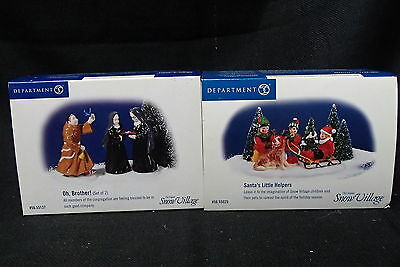 Dept 56  Snow Village Oh Brother And Santa's Little Helpers