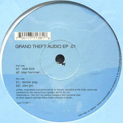 """12"""" Us**grand Theft Audio - Ep .01 (City Of Angels / Sealed)***23283"""