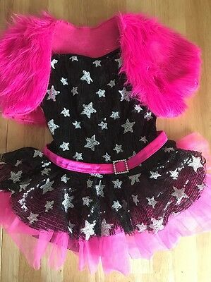 Girls Dance Recital Competition Stars Sequin Costume Outfit Size Child Large