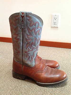 Ariat Boots Cobalt XR Pro Western Cowgirl Boot Womens Blue Brown 6B like 6.5