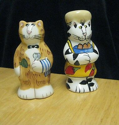 Catzilla Salt and Pepper Shakers Chef Cats
