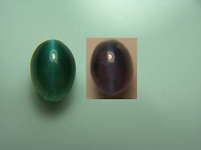 very rare Alexandrite Cat's Eye Cab NATURAL Gem Color Change Green Purple 1.16ct