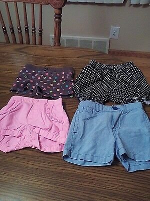 lot of 4 pairs of infant girls shorts size 6-9 months