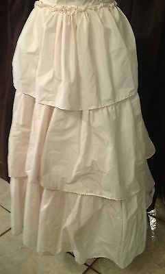 Ladies Long Cream Skirt Western or other Re-enactment