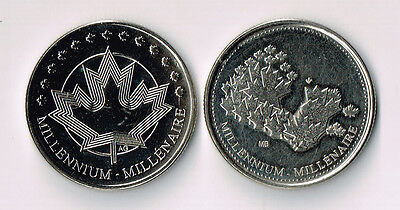 Lot Of Two 1999 & 2000 Canada Rcm Tokens