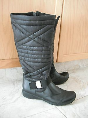 Naturalizer Rayne Black Quilted Knee-High Zipper Womens Boots Size 9.5