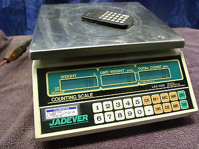 Jadever LAC-1260 Digital Counting Scale 26 lb x .002 12 kg x 1g. SS remove top