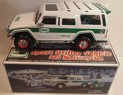 Hess 2004 Sport Utility Vehicle and Motorcycles New NIB with ORIGINAL HESS BAG
