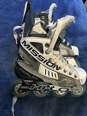 Mission Inhaler Ac4 Hockey Roller Blades Skates Size 4.5UK 37.5