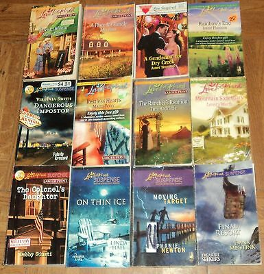 """LOVE INSPIRED """"ROMANCE & SUSPENSE"""" PAPERBACK COLLECTION - Lot of 12"""