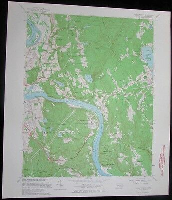Middle Haddam Connecticut Connecticut River vintage 1964 old USGS Topo chart