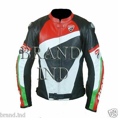 Valentino Rossi DUCATI CORSE Motorbike motogp Leather Jacket limited offer