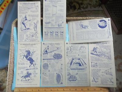 Lot of 7 Different 1949 NABISCO INJUN-UITY Cards Cereal Straight Arrow