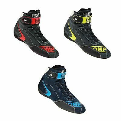 OMP First Evo FIA Approved Suede & Nomex Flame Retardant Race / Rally Boots