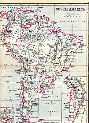 'SOUTH AMERICA'  MAP by EDWARD WELLER [6] - 1897