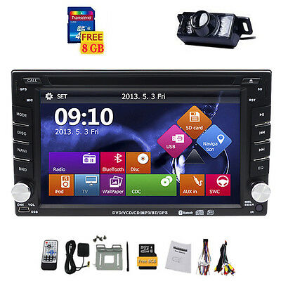 "6.2"" Double 2DIN In Dash GPS Nav Car DVD Player Bluetooth Auto Stereo Radio iPod"