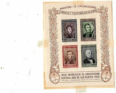 REPUBLICA ARGENTINA - document ( correos y telecomunicaciones ) 1950