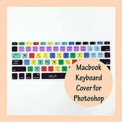 """Photoshop Shortcut Keyboard Soft Cover for Apple Mac MacBook Air Pro 13.3"""" 15.4"""""""