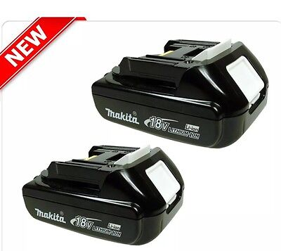 Genuine Makita 18V Slide Li-Ion 1.5Ah Cordless battery x 2 - BL1815