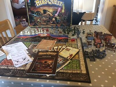 Hero Quest MB Games Board Game Complete