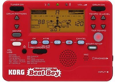 New Korg Beat Boy Drum Machine, Recorder & Guitar & Bass Tuner - BEATBOY