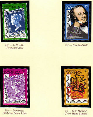 Dominica 1979 Sir Rowland Hill Centenary Set Of All 4 Mnh