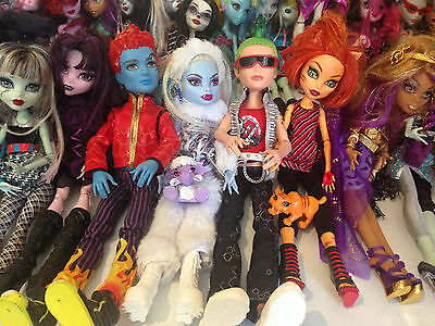 Monster High Bulk Lot Inc First Wave Abbey Holy Hyde TORALEI + Car Game extras⬛