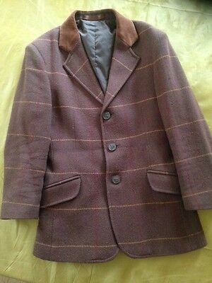 Shires Child Brown Tweed Show Jacket Size 28