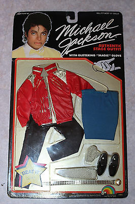 michael jackson outfit dolls. pack 4 tenues