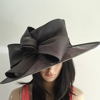 Snoxell Gwyther Slate Grey Ascot Wedding Hat Mother Of The Bride Occasion