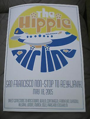 Hippy Airline Poster