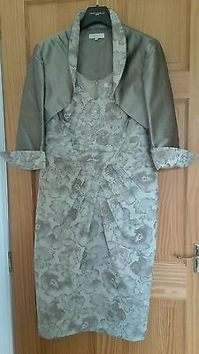 John Charles Mother Of The Bride Dress & Jacket Size 16 And Custom Made Hat