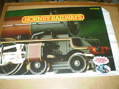 HORNBY MODEL RAILWAYS CATALOGUE 1987 33rd EDITION +P/LIST EXCELLENT FOR AGE