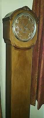 Antique Grandmother Westminster chime clock in walnut, must see