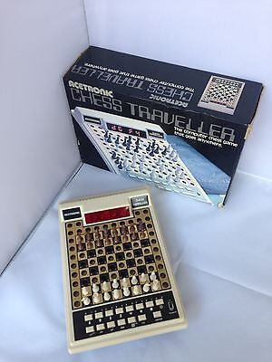 Vintage Acetronic Chess Traveller Electronic Game - Working.