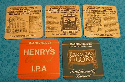 5 Different Wadworth Brewery Beermats Bierdeckel
